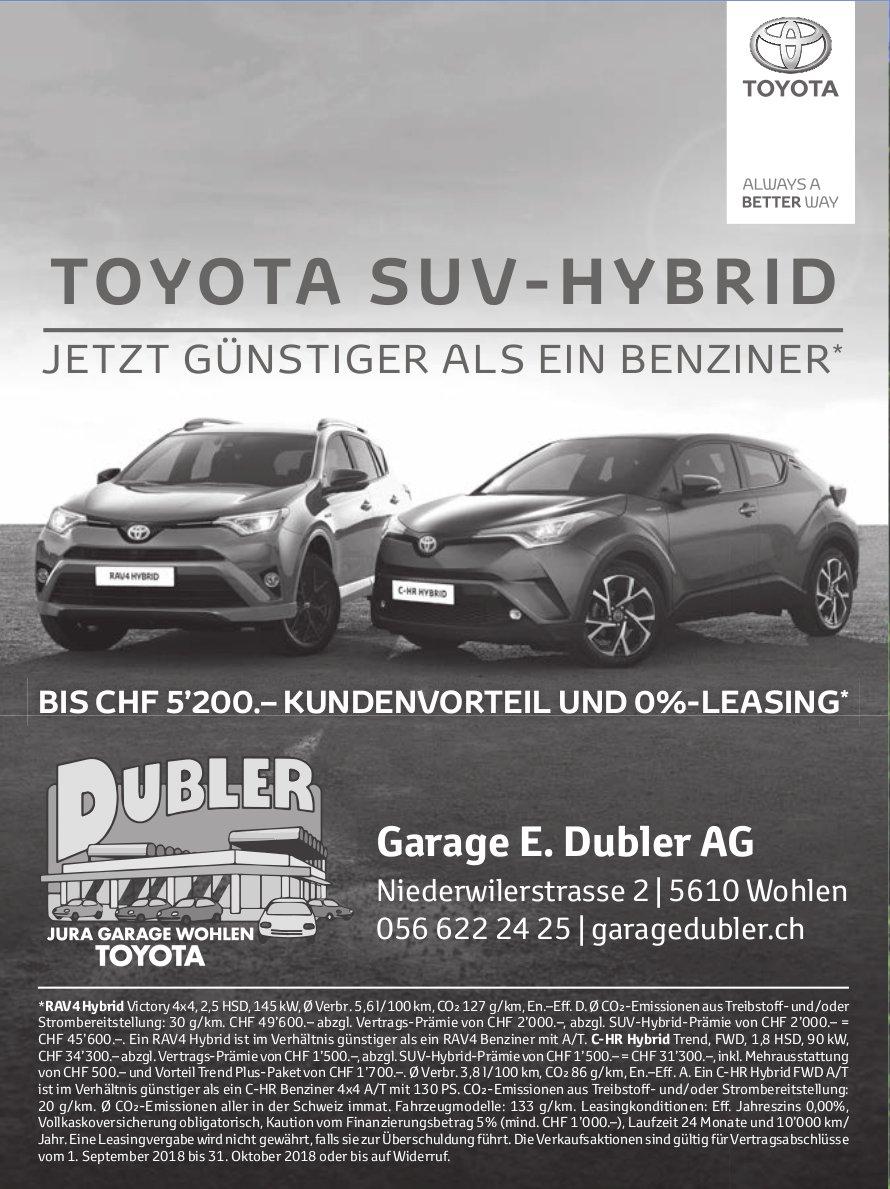 Toyota SUV-Hybrid, Garage E. Dubler AG