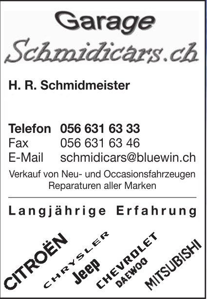 Garage Schmidicars