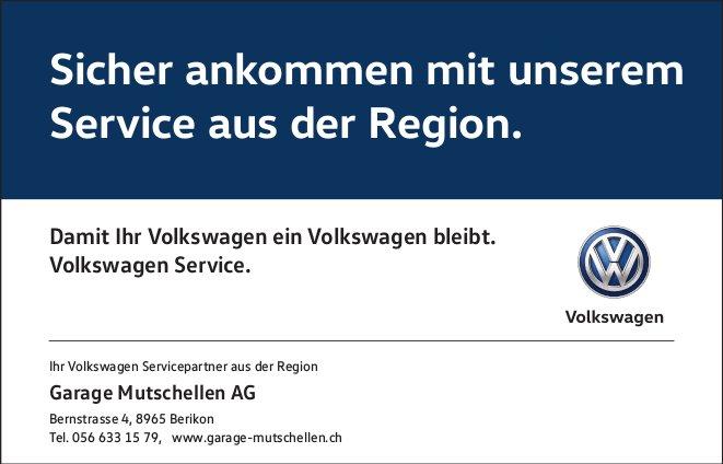 Sicher ankommen mit unserem Service aus der Region, Garage Mutschellen AG
