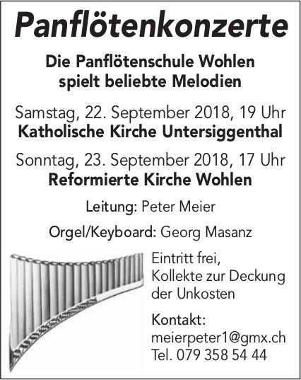 Panflötenkonzerte der Panflötenschule Wohlen, 22./23. September