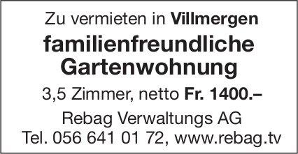 Gartenwohnung 3,5 Zimmer in Villmergen zu vermieten