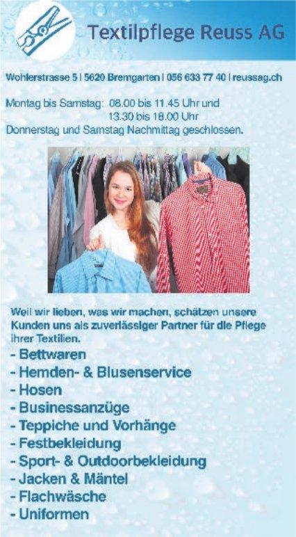 Textilpflege Reuss AG, Bremgarten