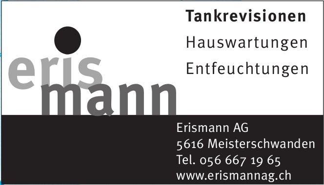 Erismann AG - Tankrevisionen, Hauswartungen, Entfeuchtungen