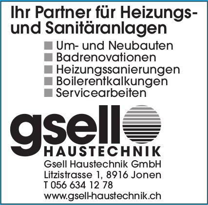 Gsell Haustechnik GmbH - Ihr Partner für Heizungs- und Sanitäranlagen