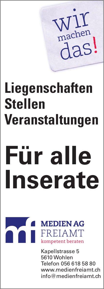Medien AG Freiamt - Für alle Inserate, wir machen das¨!