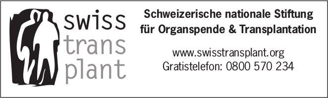 SwissTransplant - Schweizerische nationale Stiftung für Organspende & Transplantation