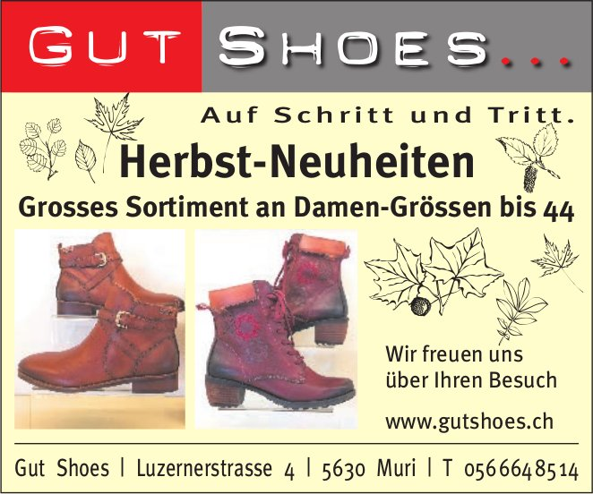 Gut Shoes- Herbst-Neuheiten