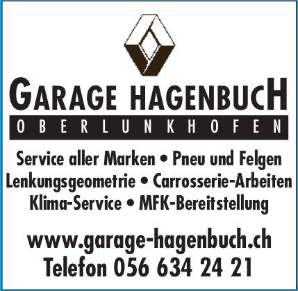GARAGE HAGENBUCH, Oberlunkhofen - Service aller Marken, Pneu und Felgen, usw.