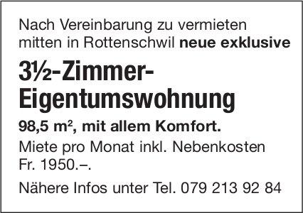 3½-Zimmer-Eigentumswohnung in Rottenschwil zu vermieten