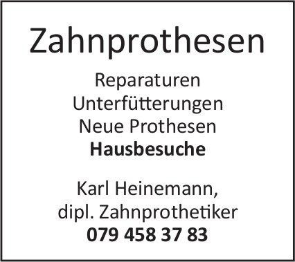 KarlHeinemann, dipl. Zahnprothetiker - Zahnprothesen / Hausbesuche