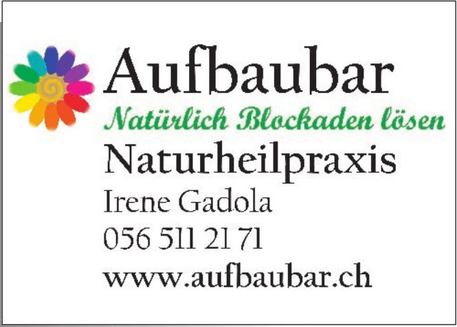 Aufbaubar Naturheilpraxis, Irene Gadola