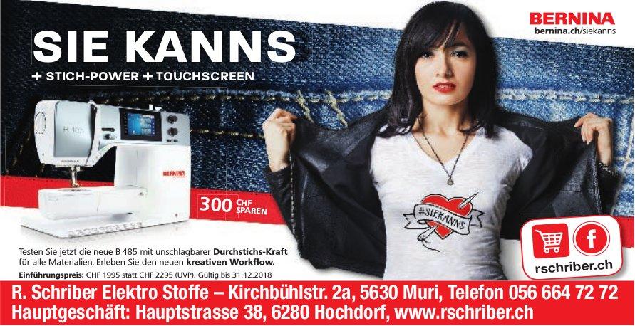 R. Schriber Elektro Stoffe - Bernina Sie Kann's