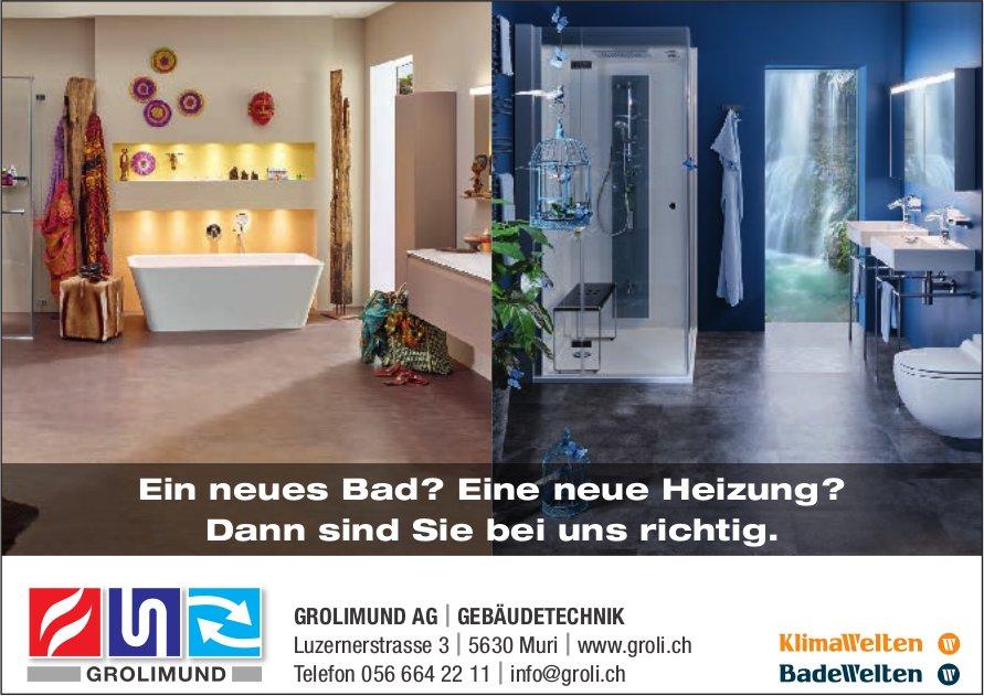 GROLIMUND AG, GEBÄUDETECHNIK - Ein neues Bad? Eine neue Heizung?