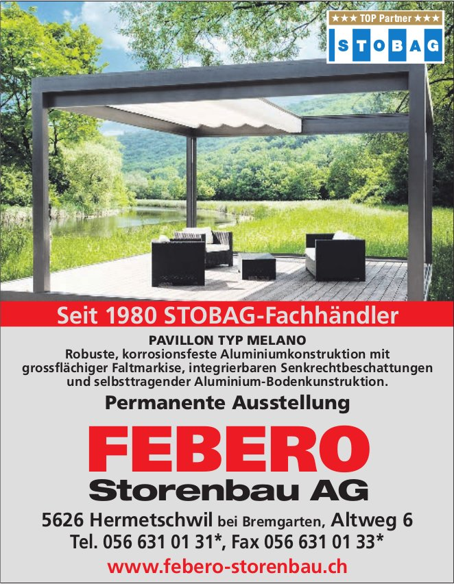 FEBERO Storenbau AG - PAVILLON TYP MELANO