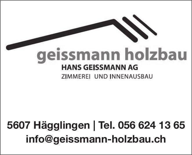 HANS GEISSMANN AG - ZIMMEREI UND INNENAUSBAU