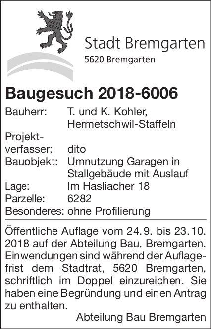 Stadt Bremgarten - Baugesuch 2018-6006