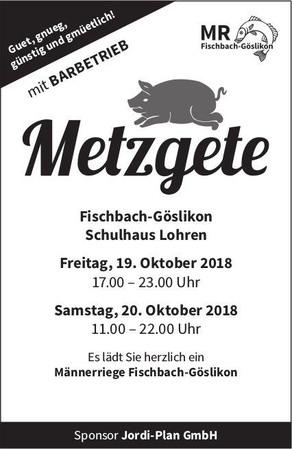 Metzgete, 19./20. Oktober, Schulhaus Lohren