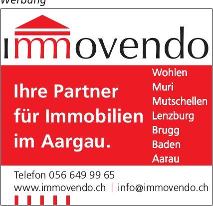 Immovendo - Ihre Partner für Immobilien im Aargau.