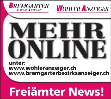 BBA/WA - Mehr online: Freiämter News!