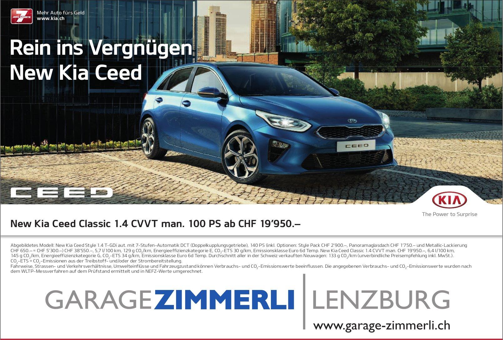 Garage Zimmerli - Rein ins Vergnügen New Kia Ceed