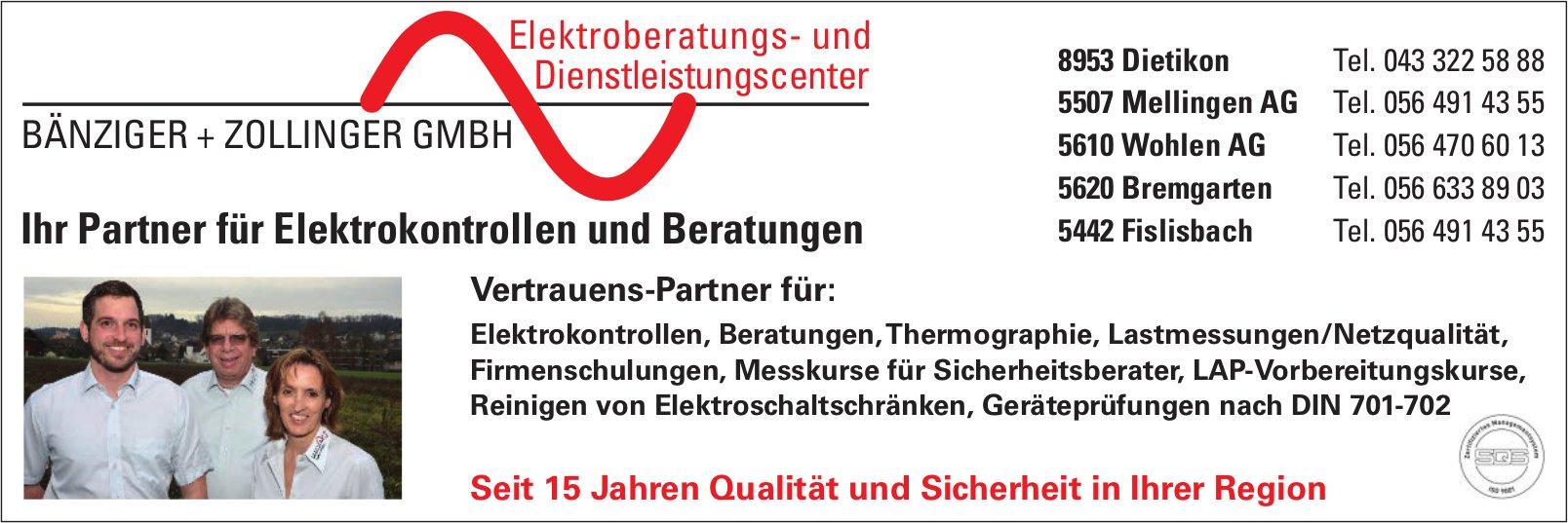 BÄNZIGER + ZOLLINGER GMBH - Ihr Partner für Elektrokontrollen und Beratungen