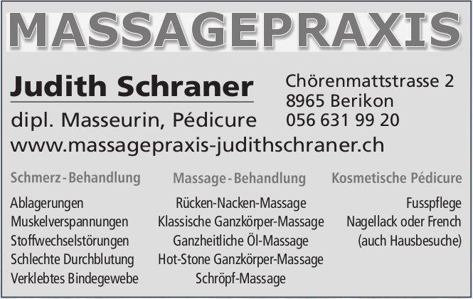 Massagepraxis Judith Schraner, Berikon