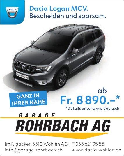 Garage Rohrbach AG - Dacia Logan MCV. Bescheiden und sparsam.