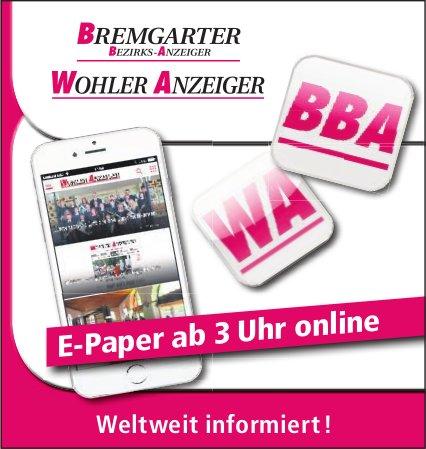 BBA/WA - E-Paper ab 3 Uhr online: Weltweit informiert !