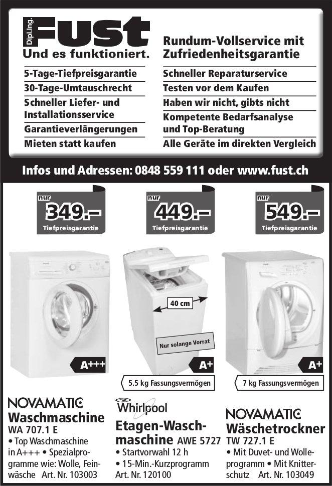 Fust - Waschmaschine/ Wäschetrockner, Tiefpreisgarantie