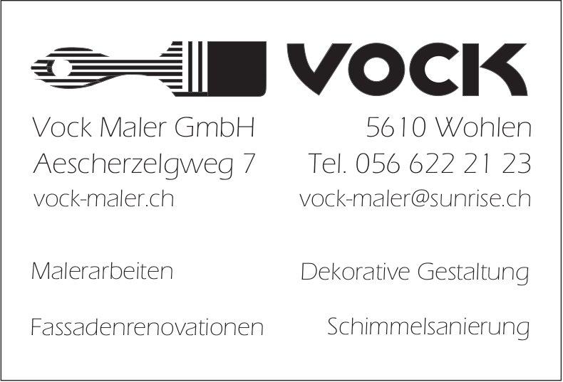 Vock Maler GmbH - Malerarbeiten, Dekorative Gestaltung, Fassadenrenovationen, Schimmelsanierung