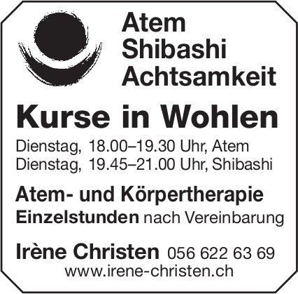 Atem Shibashi Achtsamkeit - Kurse in Wohlen