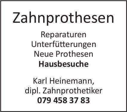 Karl Heinemann, dipl. Zahnprothetiker - Zahnprothesen, Hausbesuche