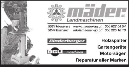 Landmaschinen Mäder AG - Reparatur aller Marken