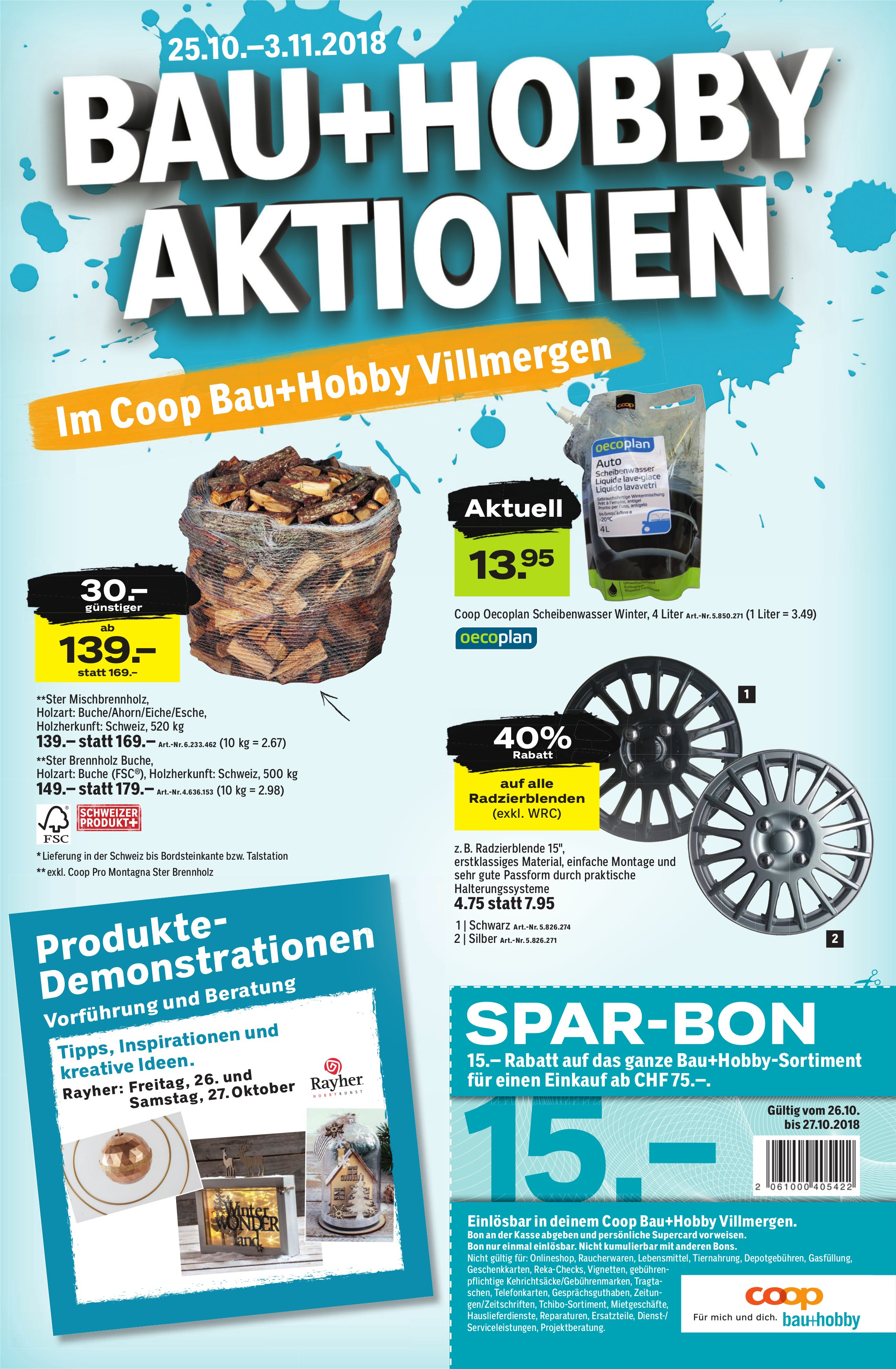 Bau Hobby Aktionen Im Coop Bauhobby Villmergen Vom 2510 Bis 0311
