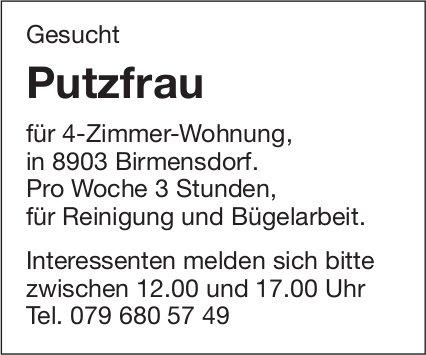Putzfrau für 4-Zimmer-Wohnung, in Birmensdorf gesucht