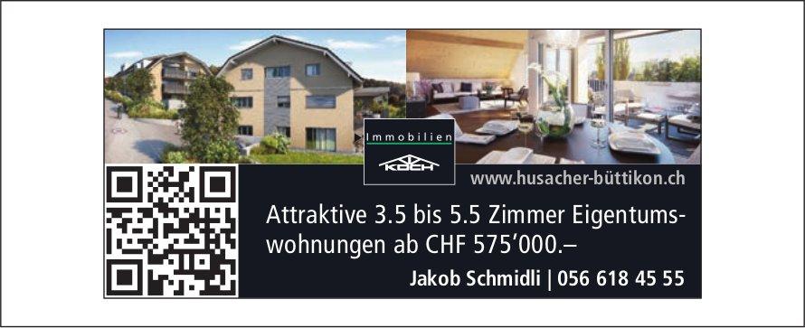 Attraktive 3.5 bis 5.5 Zimmer Eigentumswohnungen ab CHF 575'000.– in Büttikon