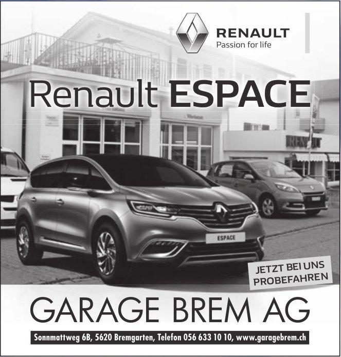 Renault ESPACE, Garage Brem AG