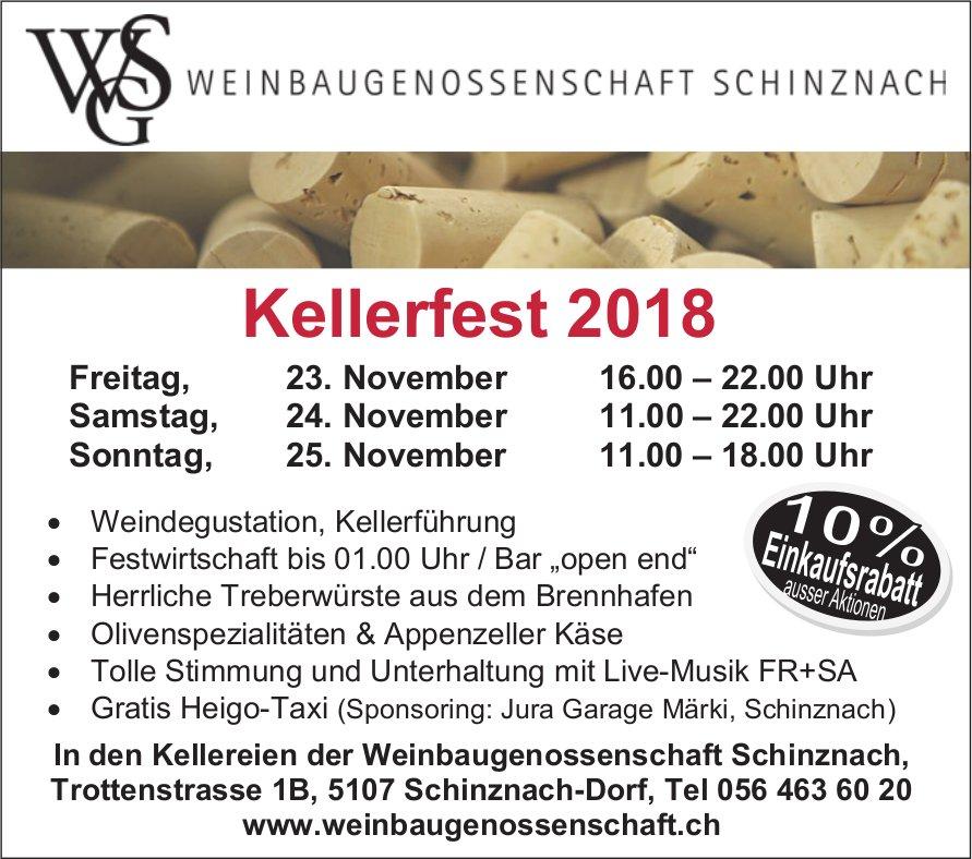 Kellerfest 2018, 23./24./25. Nov., Weinbaugenossenschaft Schinznach