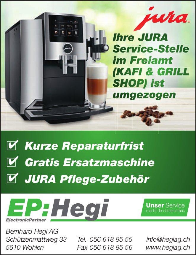 Ihre JURA Service-Stelle im Freiamt, Bernhard Hegi AG