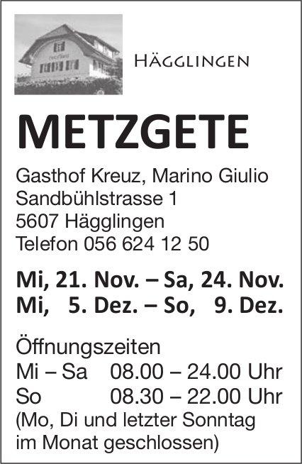 Metzgete, 21. - 24. Nov. / 5. - 9. Dez., Gasthof Kreuz