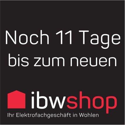 Noch 11 Tage bis zum neuen ibw shop