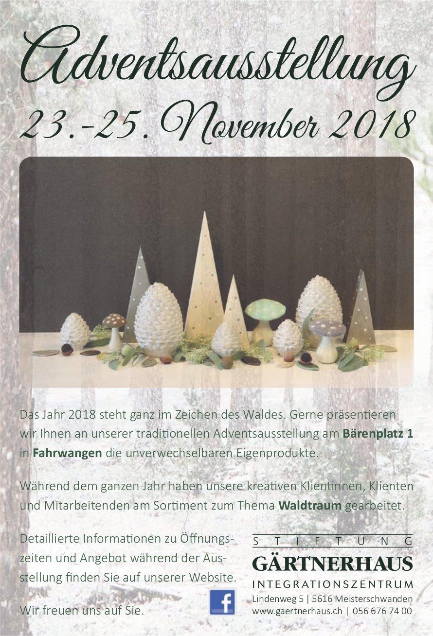 Adventsausstellung, 23.-25. Nov., Stiftung Gärtnerhaus