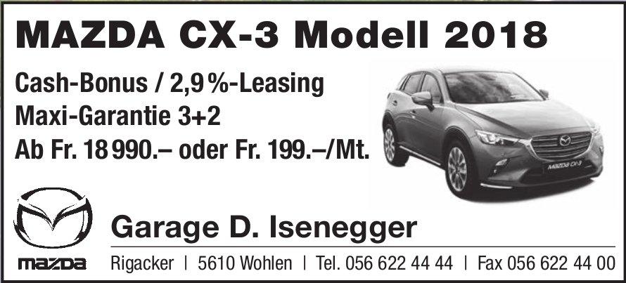 MAZDA CX-3 Modell 2018, Garage D. Isenegger