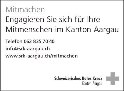 Engagieren Sie sich für Ihre Mitmenschen im Kanton Aargau, Schweizerisches Rotes Kreuz