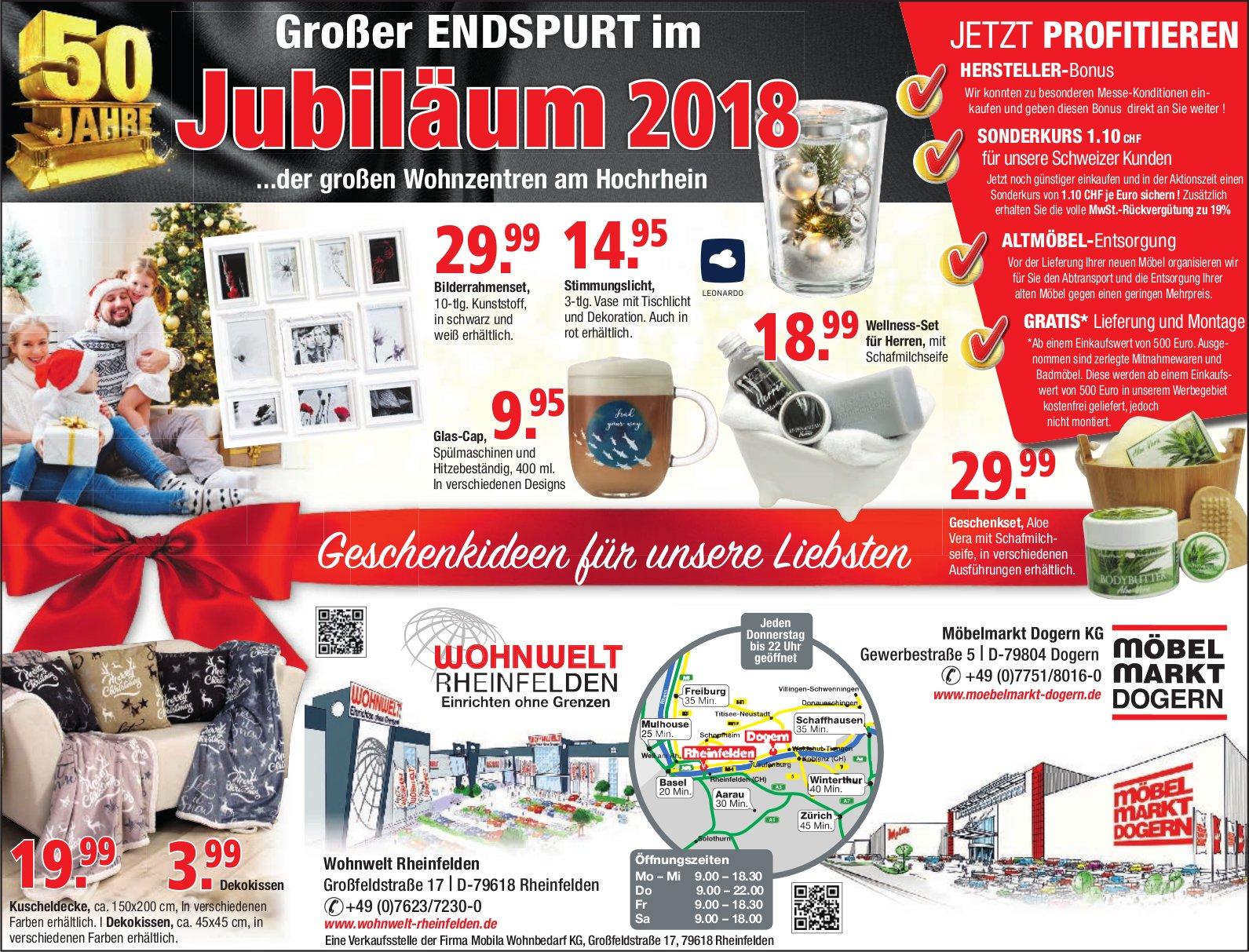 Wohnwelt Rheinfelden Möbelmarkt Dogern Kg Grosser Enspurt Im