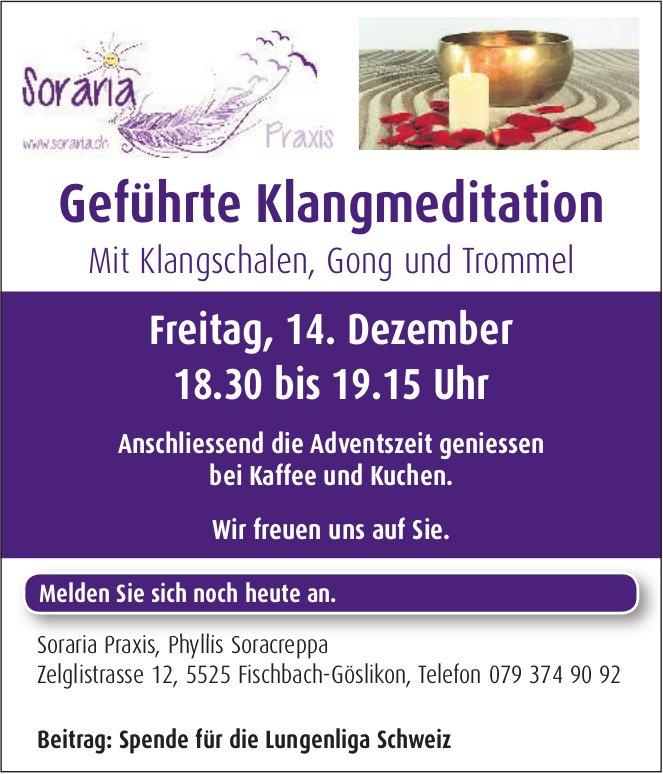 Geführte Klangmeditation, 14. Dez., Soraria Praxis