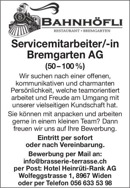 Servicemitarbeiter/-in Bremgarten AG (50-100%) bei Hotel Heinrüti-Rank gesucht