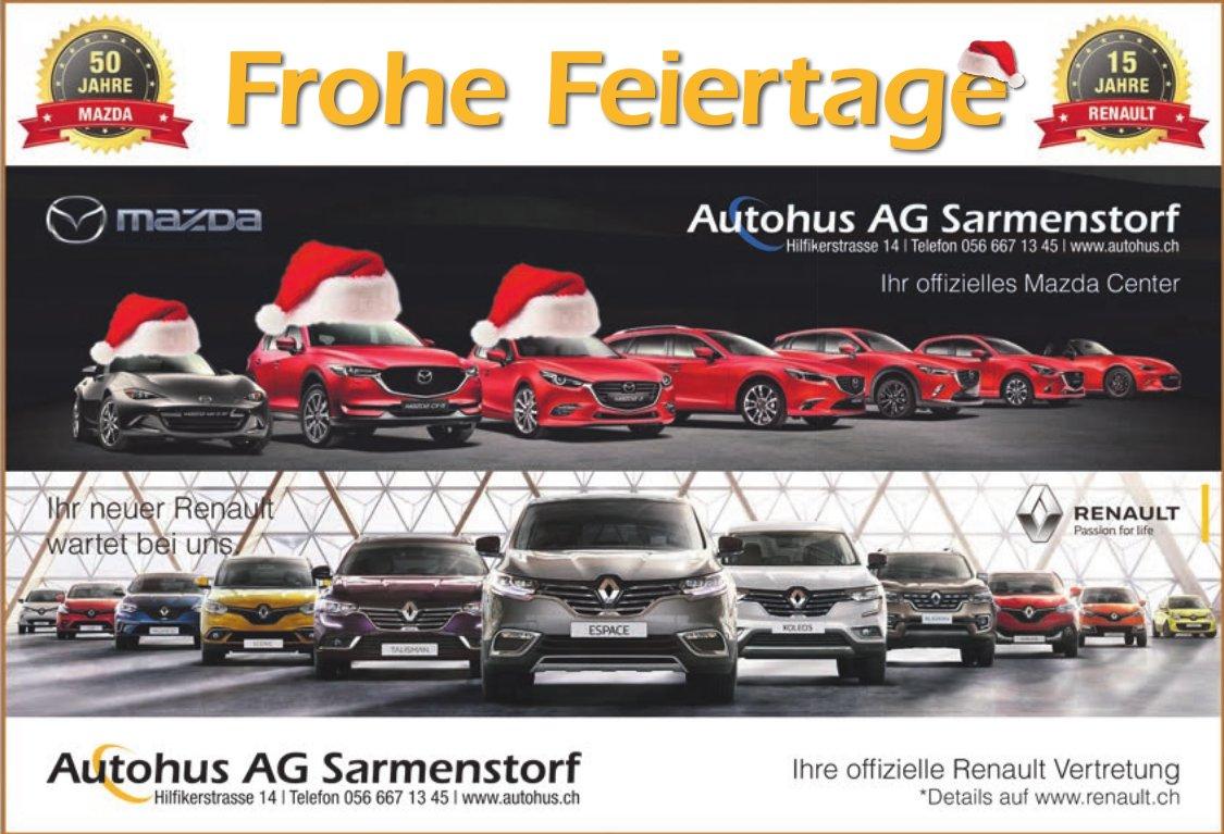 Autohus AG Sarmenstorf - Ihre offizielle Mazda und Renault Vertreter