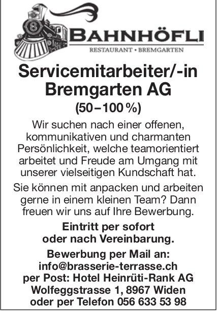 Restaurant Bahnhöfli in Bremgarten - Servicemitarbeiter/-in gesucht