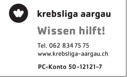 Krebsliga Aargau - Wissen hilft!